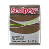 Sculpey III Polymer Clay - Suede Brown 2 oz block
