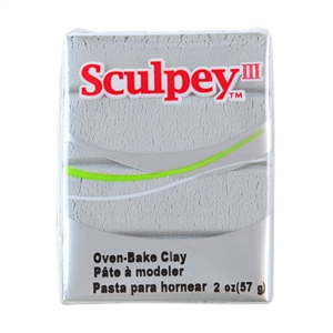 Sculpey III Polymer Clay - Silver 2 oz block