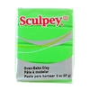 Sculpey III Polymer Clay - Granny Smith 2 oz block