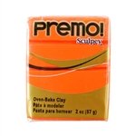 Premo Sculpey Polymer Clay - Orange 2 oz block