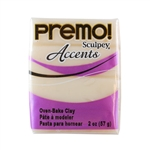 Premo Accent Sculpey Polymer Clay - Translucent 2 oz block