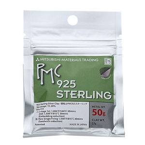 PMC STERLING - Sterling Silver Jewelry Clay - 50 gram pak