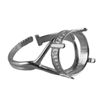 Sterling Silver Crown Setting Adjustable Crimp Ring - Round 14mm Pkg - 1