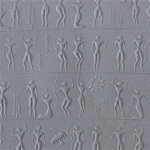 Rollable Texture Tile - Ancient People Fineline