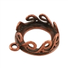 Copper Plate Pendant Setting - Waves Round 12mm