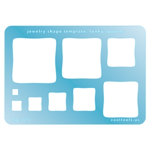 Jewelry Shape Template - Funky Squares