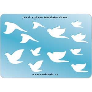 Jewelry Shape Template Doves Cool Tools