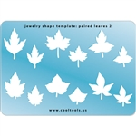 Jewelry Shape Template - Paired Leaves 2