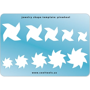 Jewelry Shape Template - Pinwheel