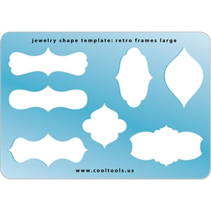 Jewelry Shape Template - Retro Frames Large