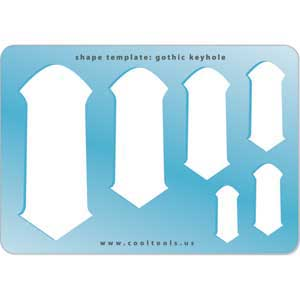 Jewelry Shape Template - Gothic Keyhole