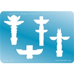 Jewelry Shape Template - Totem Poles Large