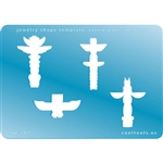 Jewelry Shape Template - Totem Poles Medium