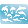 Jewelry Shape Template - Dolphins