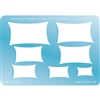 Jewelry Shape Template - Pinched Rectangles