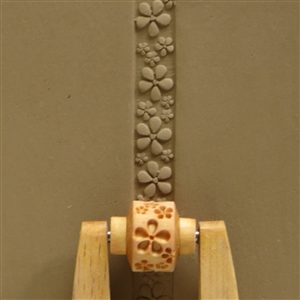 Large Wooden Mini Roller - Debossed Flower