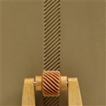 Large Wooden Mini Roller - Left Slanted Lines