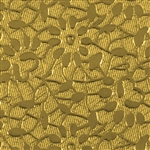 Textured Metal - Floral Love - Brass 24 gauge