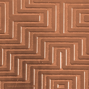 Textured Metal - Mayan Maze - Copper 18 gauge