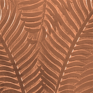 Textured Metal - Ferns or Feathers - Copper 24 gauge