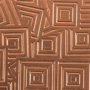 Textured Metal - Square Upon Square - Copper 24 gauge