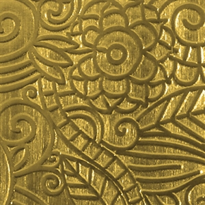 Textured Metal - Avatar Jungle - Brass 22 gauge