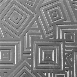 Textured Metal - Square Upon Square - Fine Silver 22 gauge