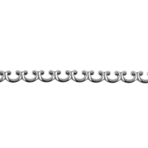 Patterned Strip - 935 Sterling Silver - Sea Fence 22 gauge - 6 Inches