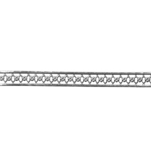Patterned Strip - 935 Sterling Silver - Floral Fence 22 gauge - 6 Inches