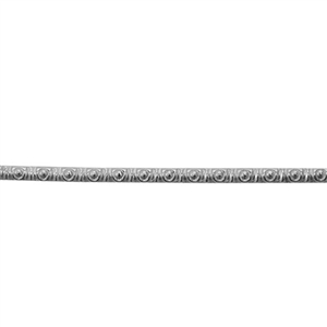 Patterned Wire - 935 Sterling Silver - Morse Code 18 gauge Dead Soft - 6""