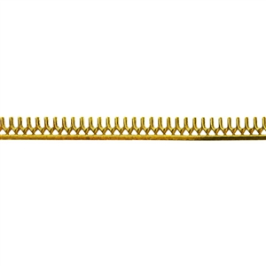 Bezel Wire - Brass - Gallery #8 26 gauge - 6 inches