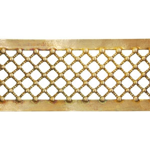 Patterned Wire - Brass - Beaded Crosshatch 16 gauge Dead Soft - 6""