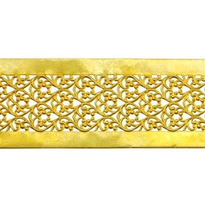 Brass Gallery Wire Floral Ribbon