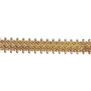 Patterned Strip - Brass - Double Dotted Diamond - 6 inches