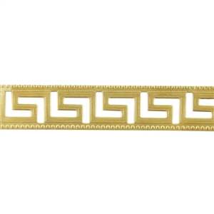 Patterned Strip - Brass - Maze - 6 inches