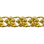Patterned Wire - Brass - Leaf Link 20 gauge Dead Soft - 6""