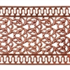Patterned Strip - Copper - Floral Ribbon with Edging - 6 inches