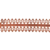 Patterned Strip - Copper - Double Loop #1 - 6 inches