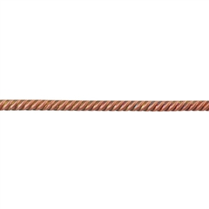 Patterned Wire - Copper - Rope #1 - 6 inches