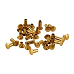 "Brass Miniature Rivet - 1/16"" Assorted Short Shaft Lengths"