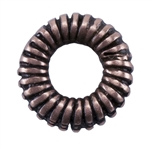 Copper Plate Spacer - Coiled 6.5mm Pkg - 4