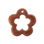 Copper Plate Charm - Flower