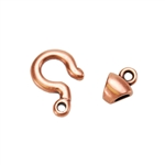 Copper Plate Hook & Eye Clasp - Tiny Tubular - 1 Set