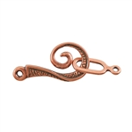 Copper Plate Hook & Eye Clasp - Oz - 1 Set