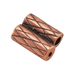 Copper Plate Slide Ends - Double Strand 1mm