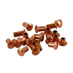 "Copper Plate Miniature Rivet - 3/32"" Assorted Short Shaft Lengths Pkg - 100"