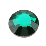Crystal Emerald - Round Flat Back
