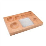 Seven Round Groove Shaping Block with Steel Block