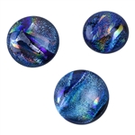 Dichroic Gems - Blue Large - 16mm to 20mm Pkg - 3