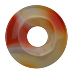 Glass Stone - Orange Pendant Round 39mm Pkg - 1